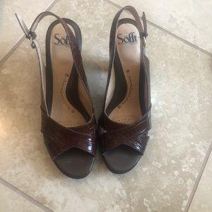 Sofft Croc Slingback Sandals Size 8.5